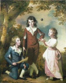 Joseph Wright Of Derby : The Children of Hugh and Sarah Wood of Swanwick Derbyshire